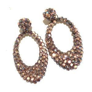 Custom swarovski crystals purple earrings